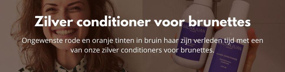 Zilver conditioner voor brunettes