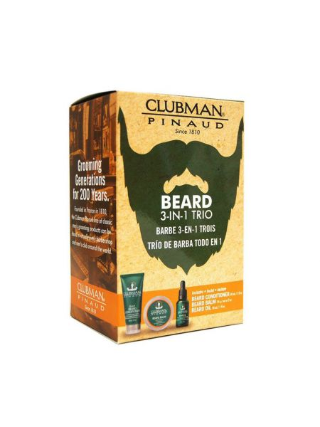 Clubman Pinaud 3 pc Beard Pack