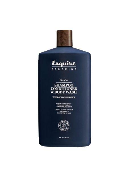 Esquire Grooming 3-In-1 Shampoo, Conditioner, Bodywash