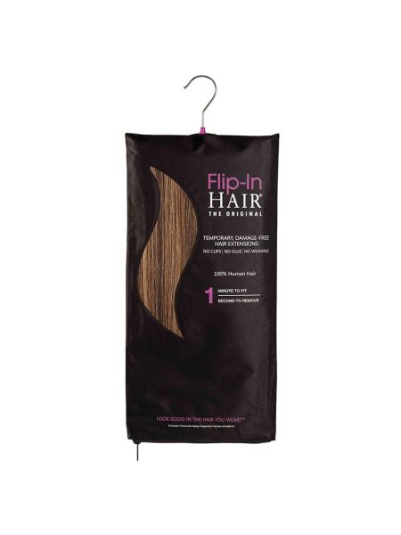 Flip-in Hair The Original Rich Brown/Butterscotch
